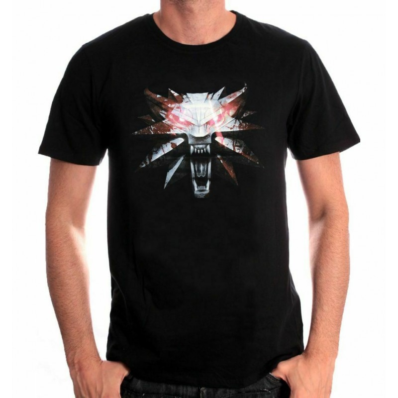 Tshirt The Witcher 3 – Wolf Medaillon Medium