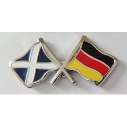 Germany and Scotland Friendship Flag Pin Badge