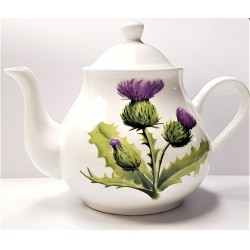 Scottish Teapot Thistle design