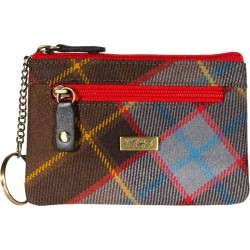 Unicorn tartan coin/key/Card purse with RFID