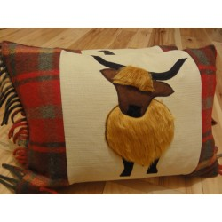 Wool Highland Coo Cushion