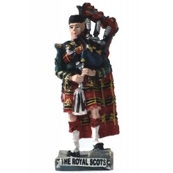 Small Handcrafted 'Royal Scots Piper' Scottish Figurine Sculpture