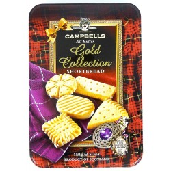 Campbells All Butter Shortbread - Gold Collection, A Delicious Selection Shortbread in Gift Tin