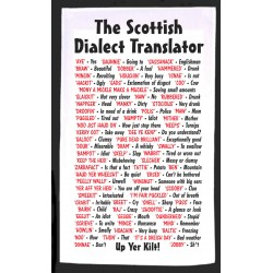 Scottish Dialect translator Tea Towel